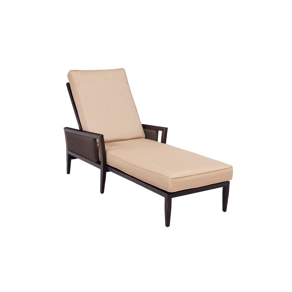 Brown jordan greystone patio chaise lounge with harvest for Brown and jordan chaise lounge