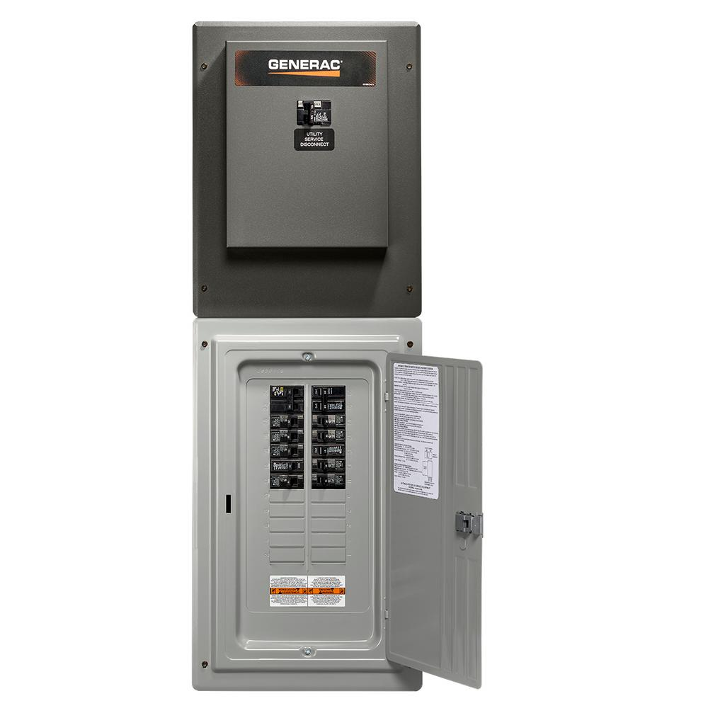 Generac 100 Amp 24-Circuit Load Center Service Entrance Rated ...