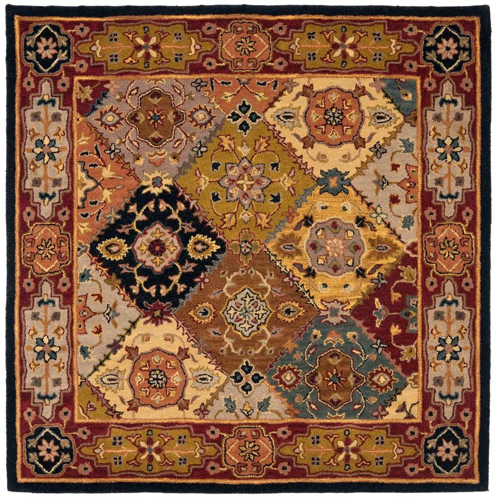 Safavieh Heritage Multi Red 6 Ft X 6 Ft Square Area Rug