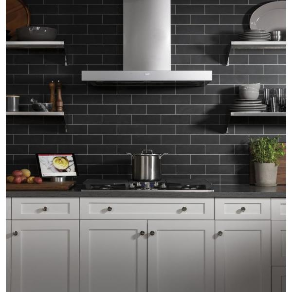 Ge 36 In Smart Wall Mount Range Hood With Light In Stainless Steel Uvw9361slss The Home Depot