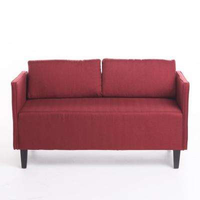 Solid Split Fabric Sofas Loveseats Living Room Furniture