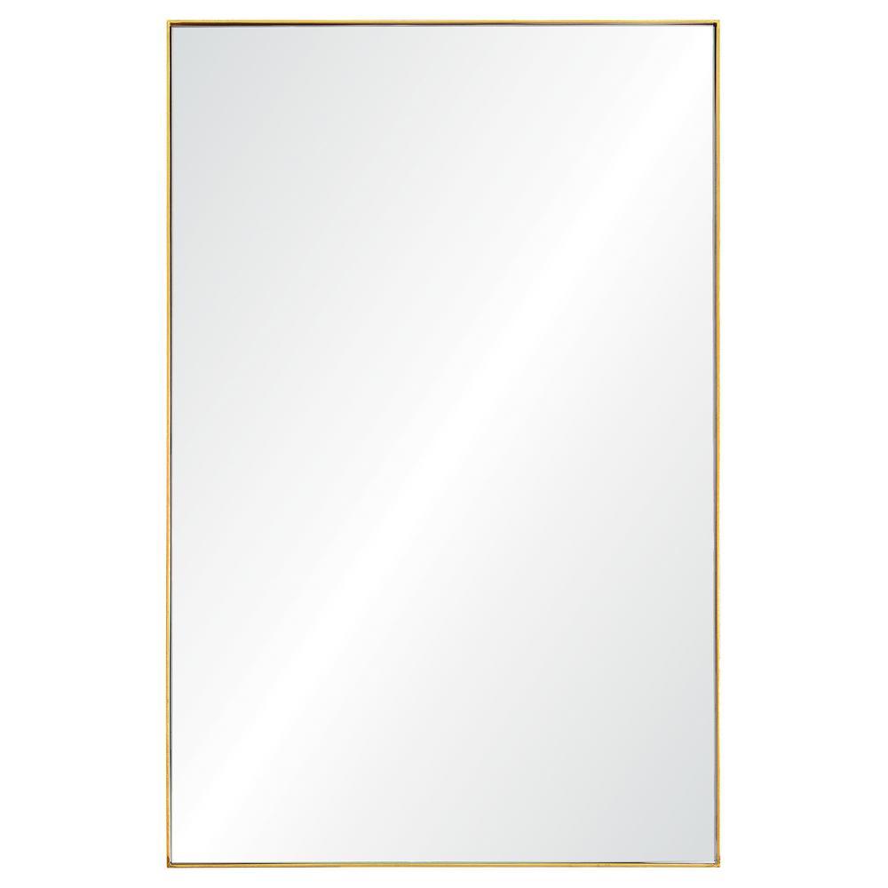 Medium Rectangle Gold Leaf Modern Mirror (32 in. H x 21 in. W)