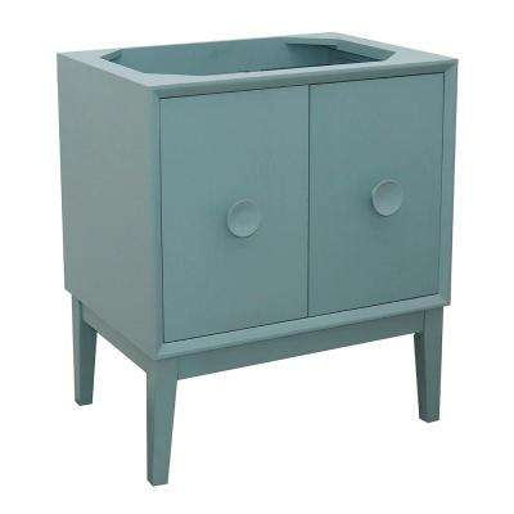 Stora 30 in. W x 21.5 in. D Bath Vanity Cabinet Only in Aqua Blue