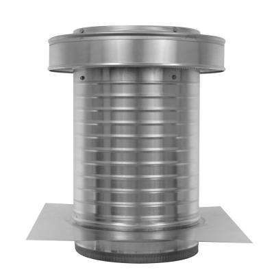 10 in. Dia. Aluminum Keepa Ducted Vent with Tail Pipe in Mill Finish