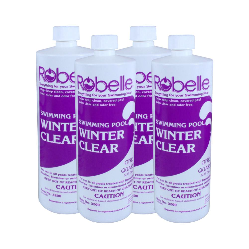 1 qt. Swimming Pool Clarifier Winter Clear 4-Pack