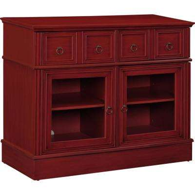 Landale Apothecary Red 42 in. TV Console