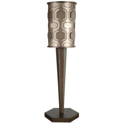 Iconic 25 in. Mist Table Lamp Champagne with Recycled Steel Shade