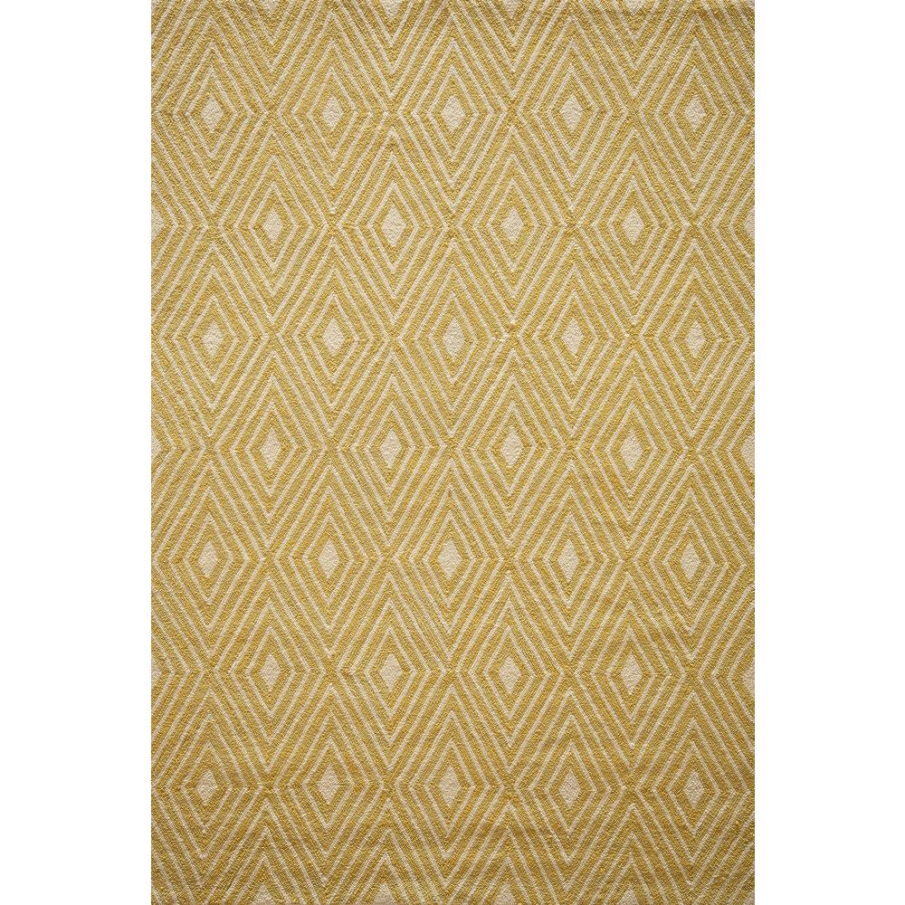 Veranda Yellow 8 ft. x 10 ft. Indoor/Outdoor Area Rug