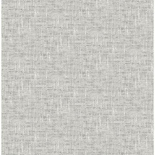 NuWallpaper Poplin Texture Grey Peel and Stick Wallpaper