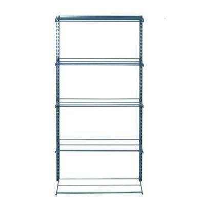 33 in. W 5-Tier Shoe and Boot Rack