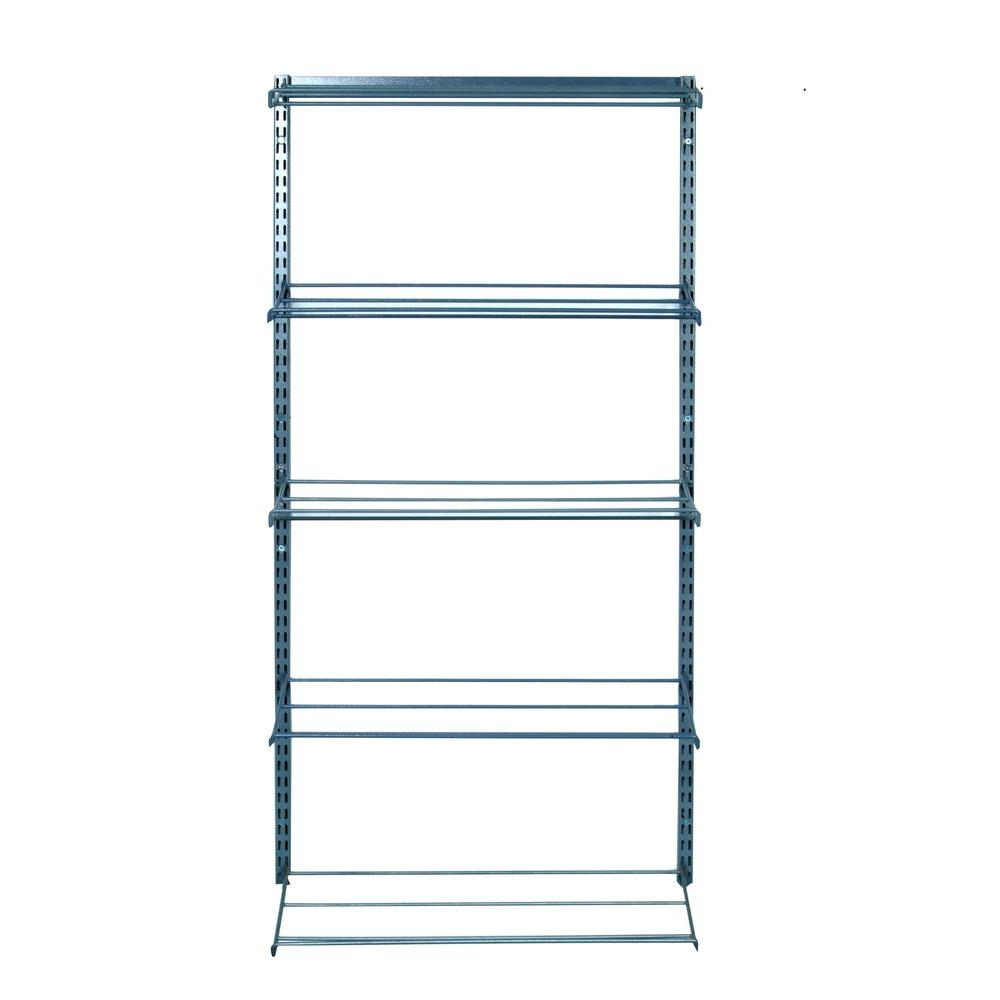 null 33 in. W 5-Tier Shoe and Boot Rack