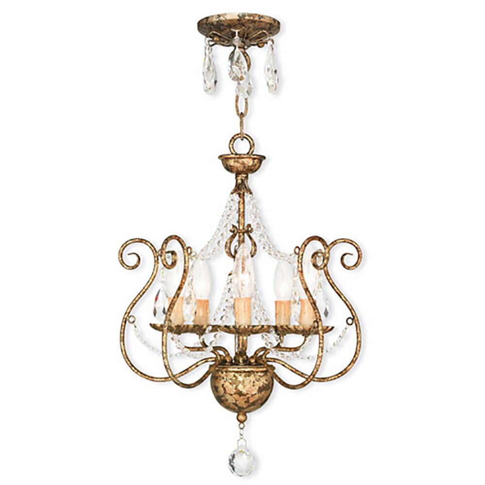 Euro Chandelier Lighting: Titan Lighting Medford 5-Light Oiled Bronze Ceiling Mount