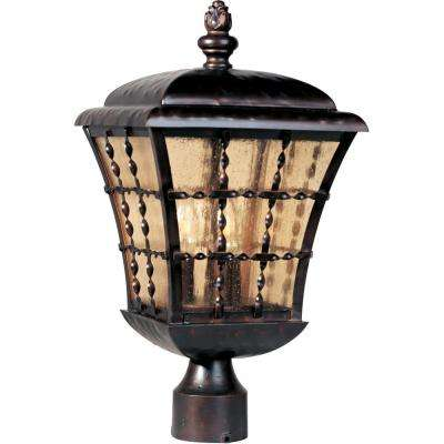 Orleans 3-Light Oil-Rubbed Bronze Outdoor Pole/Post Mount