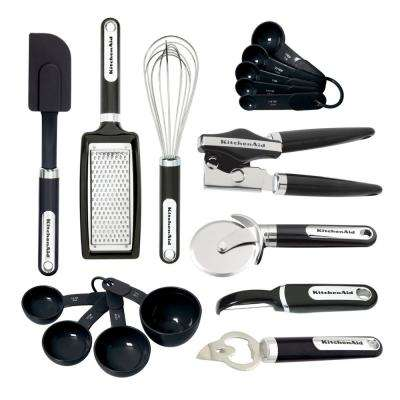16-Piece Gadget Utensils Set in Black