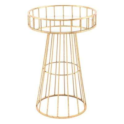 Metal Gold Small Round Table