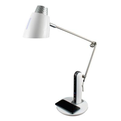 26 in. White Qi Wireless Charging LED Desk Lamp