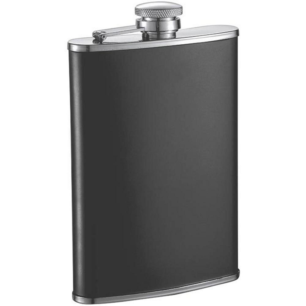 8 oz. Marcel Black Matte Liquor Flask