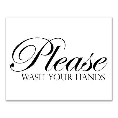 """11 in. x 14 in. """"Please Wash Your Hands"""" Printed Canvas Wall Art"""