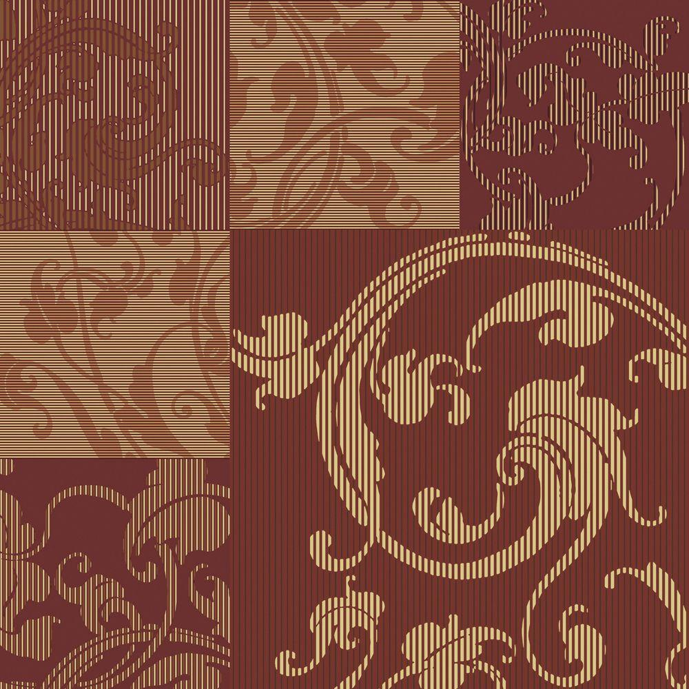 The Wallpaper Company 8 in. x 10 in. Maroon and Caramel Large Scale Marbelized Squares Wallpaper Sample