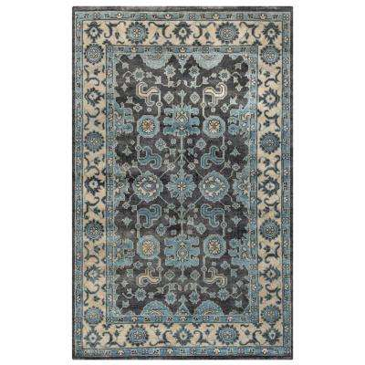 Hand-Knotted Blue 5 ft. x 8 ft. Area Rug