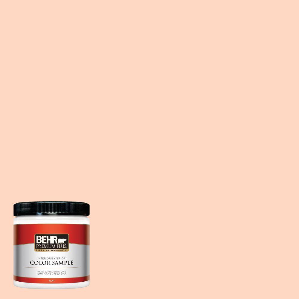 BEHR Premium Plus 8 oz. #240A-2 Sunkissed Peach Interior/Exterior Paint Sample