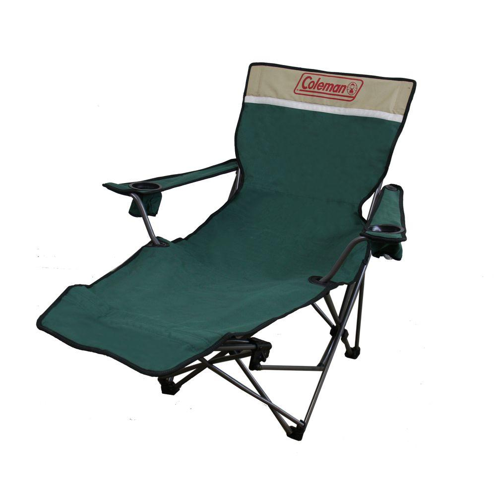 Portable Lounge Reclining Chair In Green