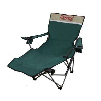 39 in. Portable Lounge Reclining Chair in Green