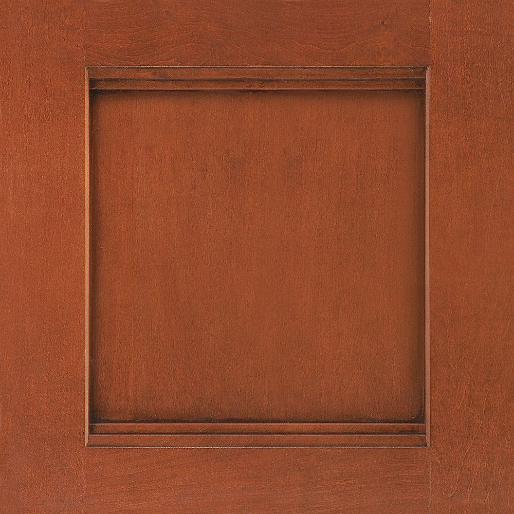 14-9/16x14-1/2 in. Cabinet Door Sample in Del Ray Maple Auburn Glaze