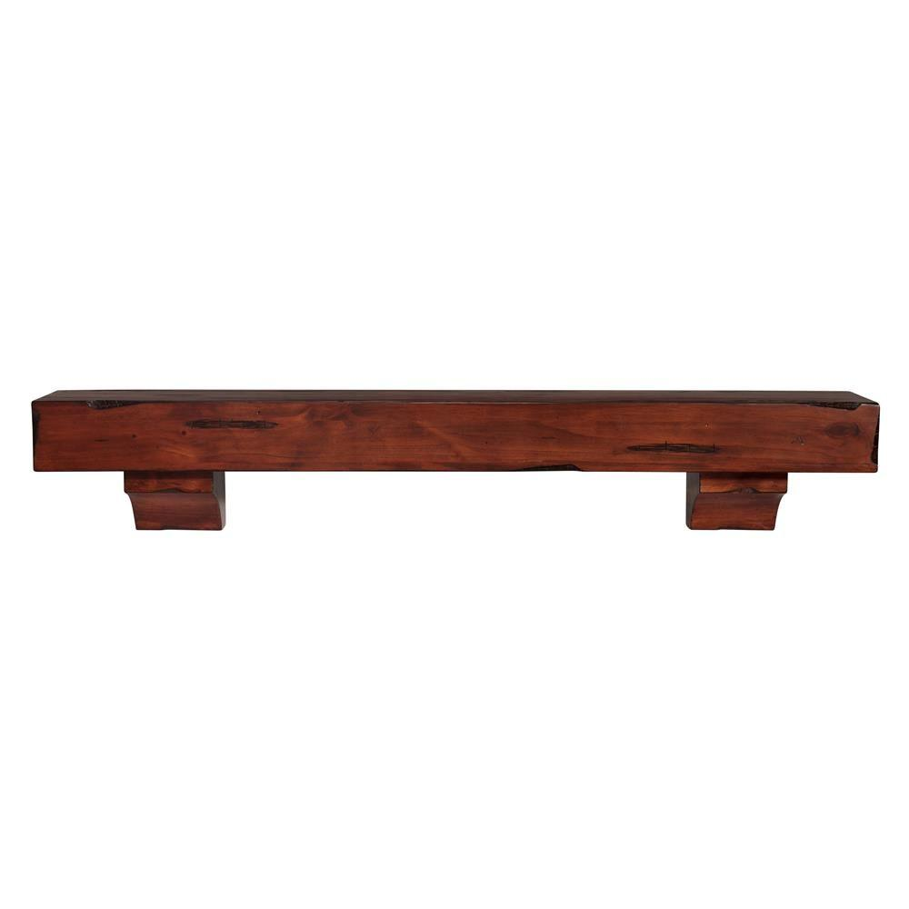 The Shenandoah 4 ft. Cherry Rustic Distressed Cap-Shelf Mantel