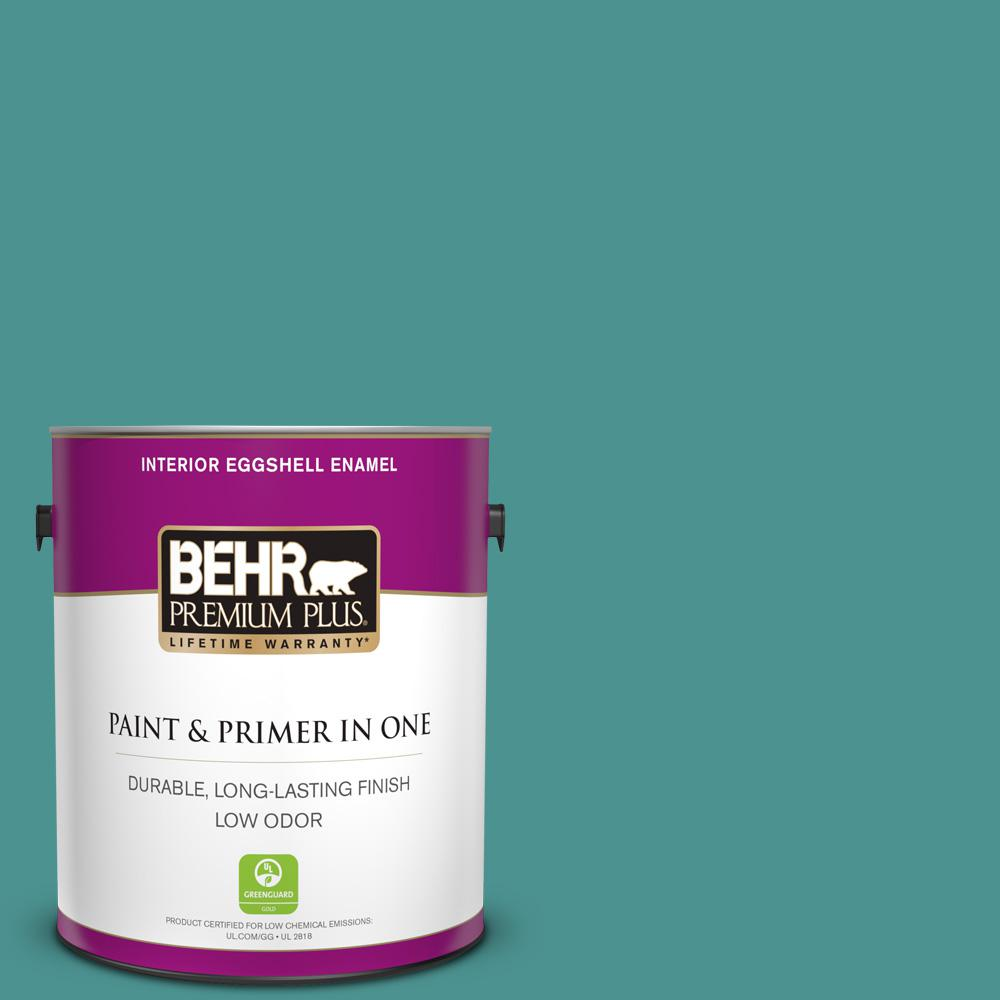 BEHR Premium Plus 1 Gal. #500D-6 Mirage Lake Eggshell