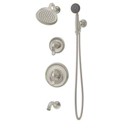 Winslet 2-Handle Tub/Shower Trim Kit in Satin Nickel (Valve Not Included)