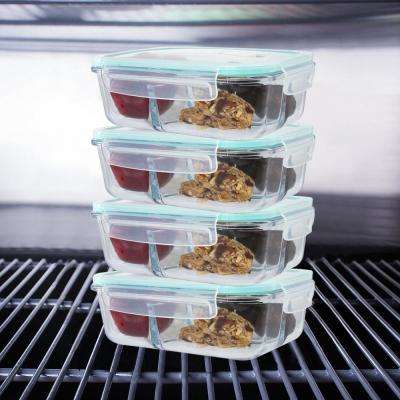 8-Piece Glass Containers Set