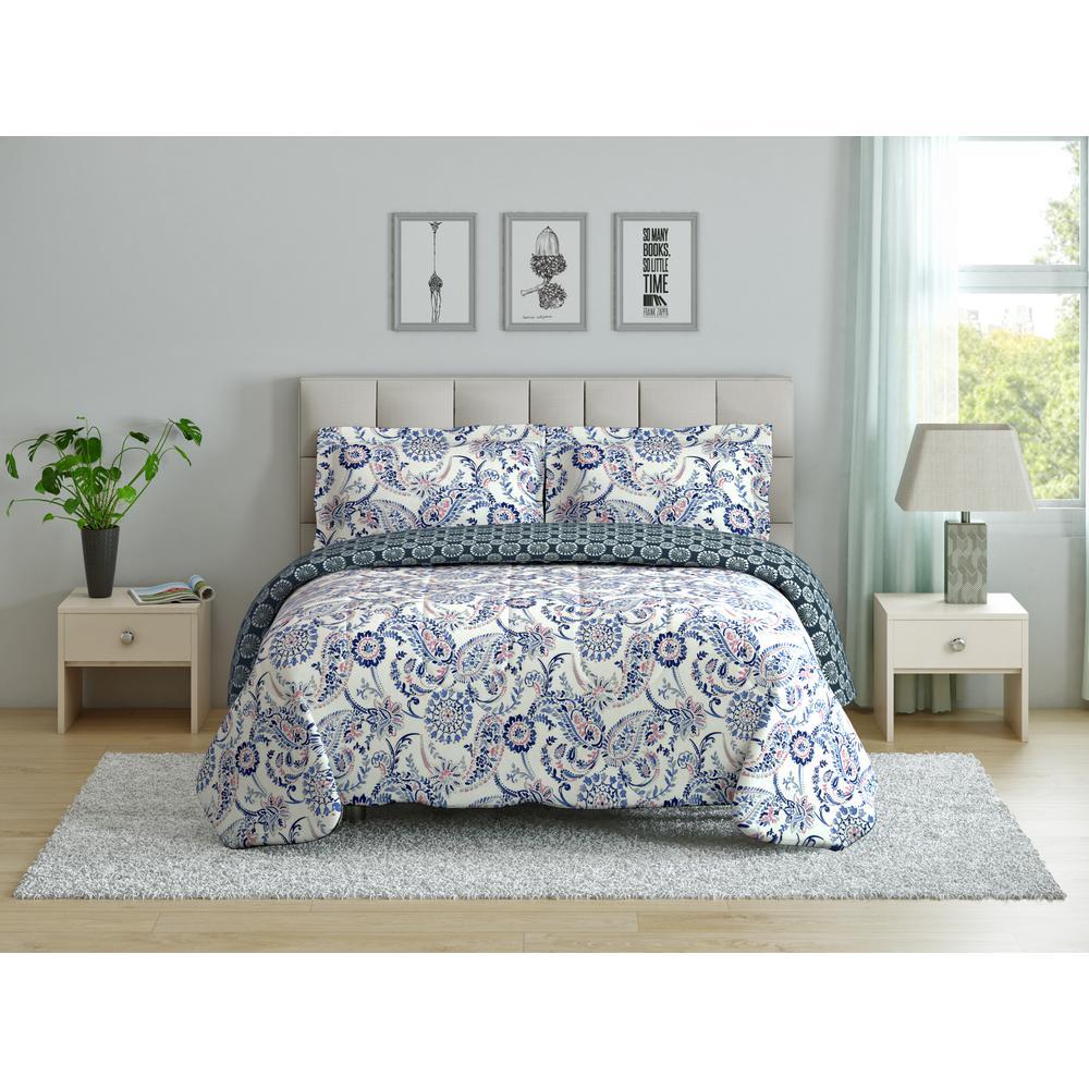 Mindy (Paisley) Full/Queen Size Comforter Set CS11380FQMNPS
