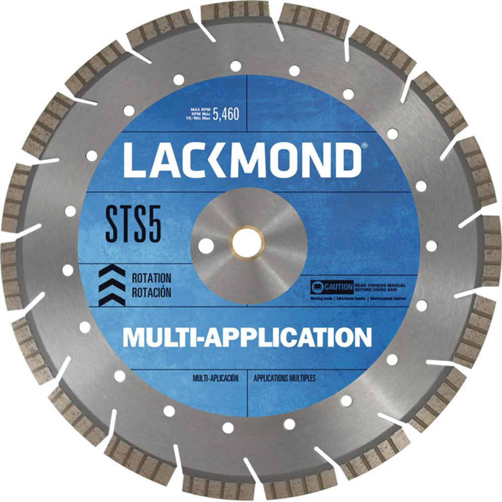 Multi-Application STS5 Series Segmented Turbo Diamond Blade 16 in. x 0.125