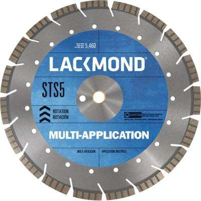 Multi-Application STS5 Series Segmented Turbo Diamond Blade 16 in. x 0.125 x 20 mm