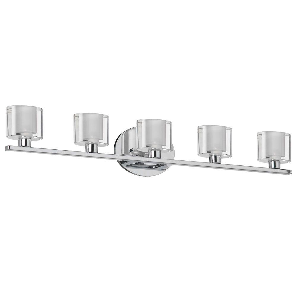 Filament Design Catherine 5 Light Polished Chrome Bath Vanity Light Cli Dn14809504 The Home Depot