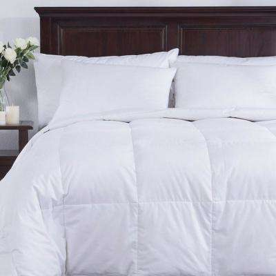 White Full and Queen Down Filled Lightweight Comforter