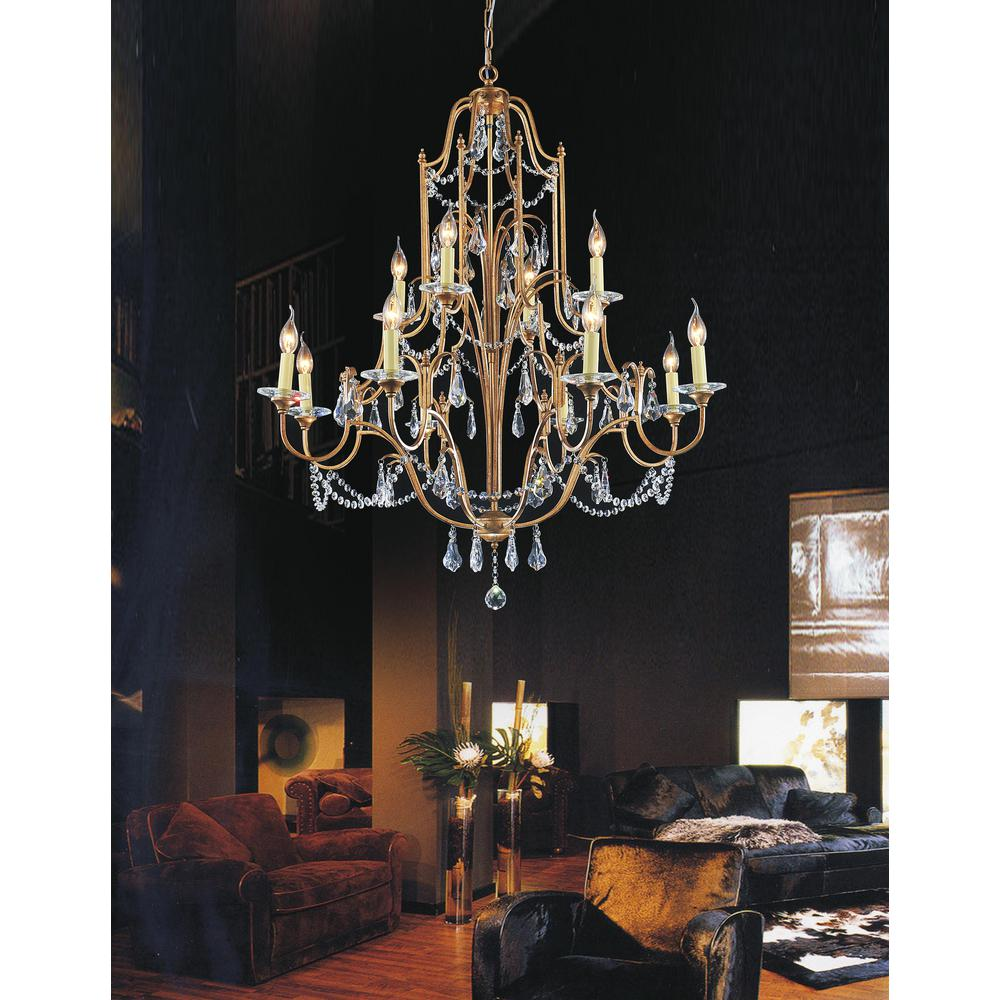 CWI Lighting Electra 12-Light Oxidized Bronze Chandelier