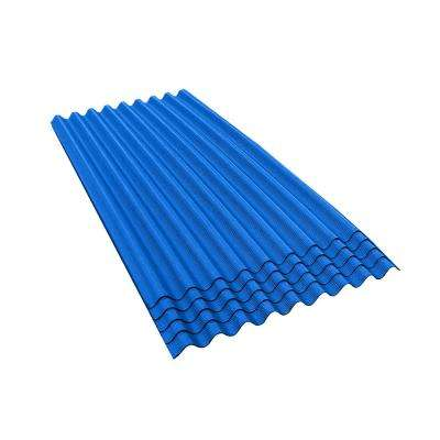 6 ft. 7 in. x 3 ft. Asphalt Corrugated Roof Panel in Blue (5-Pack)