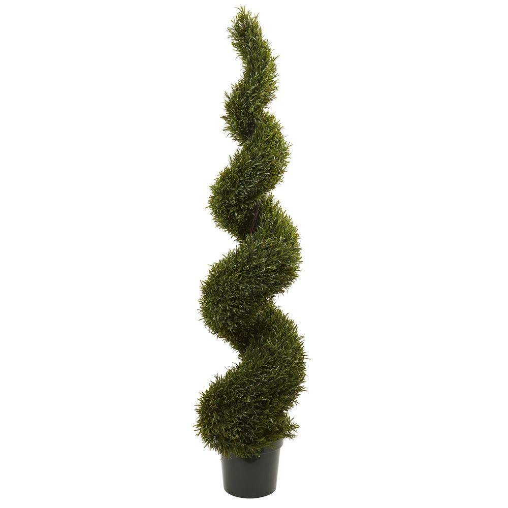 Nearly Natural 6 ft. Indoor/Outdoor Rosemary Spiral Tree-5468 ...