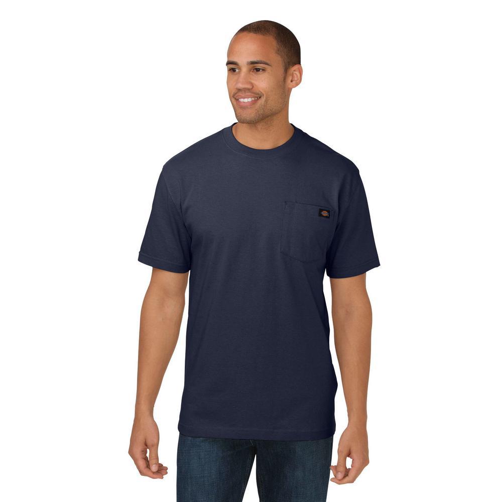 Men's Medium Dark Navy Heavy Weight Crew Neck T-Shirt