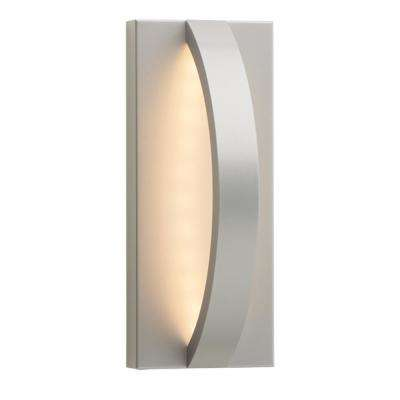 Hunter 10 in. Silver Outdoor 10.50 in. Integrated LED Wall Mount Sconce