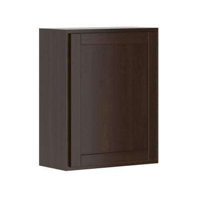 Princeton Shaker Assembled 24x30x12 in. Wall Cabinet in Java
