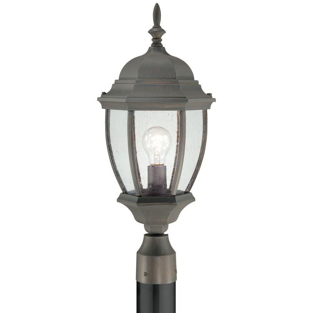 Thomas Lighting Covington 1-Light Outdoor Painted Bronze Post Lantern