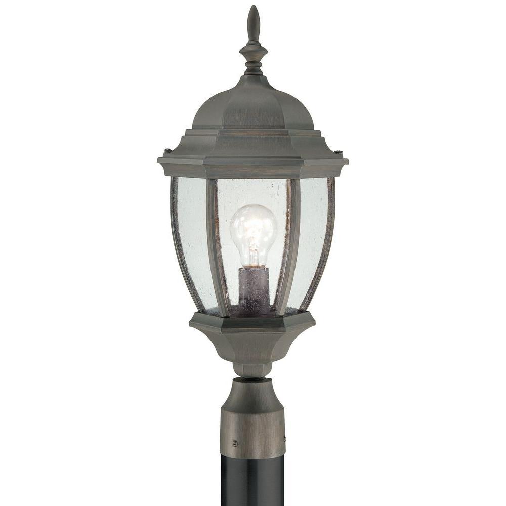 Covington 1-Light Outdoor Painted Bronze Post Lantern
