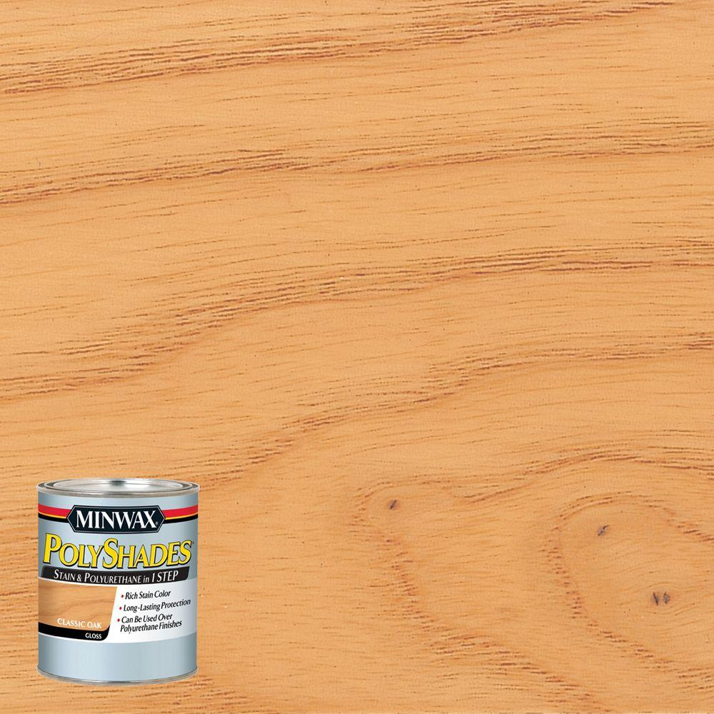 8 oz. PolyShades Classic Oak Gloss 1-Step Stain and Polyurethane