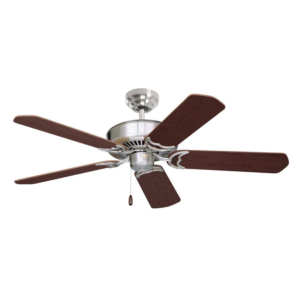 Designer 52 in. LED Brushed Steel Ceiling Fan