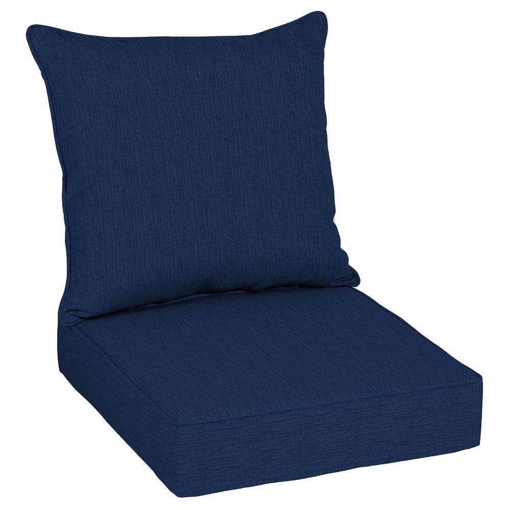 Oak Cliff 24 x 24 Sunbrella Spectrum Indigo Deep Seating Outdoor Lounge Chair Cushion