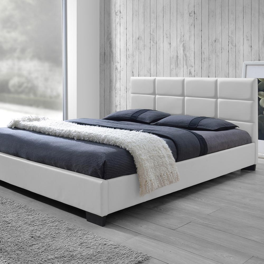 Vivaldi White Full Upholstered Bed