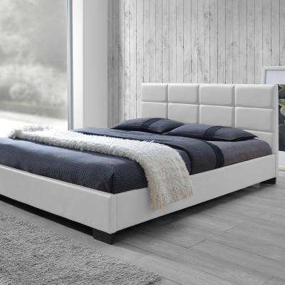 Vivaldi White Queen Upholstered Bed